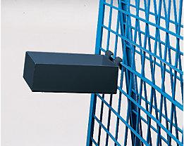 Materialkasten - Tragfähigkeit 25 kg - LxBxH 150 x 250 x 80 mm, anthrazit
