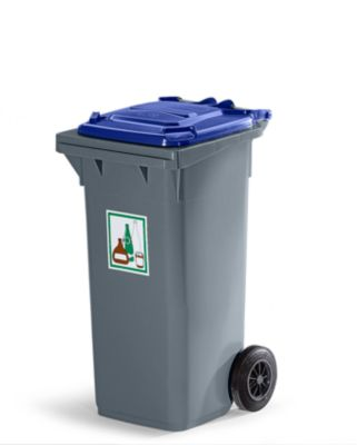 Kunststoff-Großmülltonne nach DIN EN 840 - Volumen 80 l, fehgrau