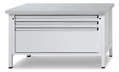 Werkbank mit XL/XXL-Schubladen - Breite 1500 mm, 3 Schubladen