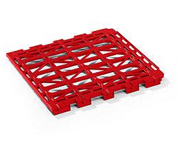 E.S.B. Etagenboden - aus Kunststoff - rot