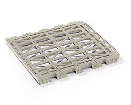 E.S.B. Etagenboden - aus Kunststoff - grau