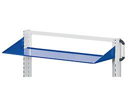 ANKE Ablageboden - gerade, Einhängewinkel nach oben - BxT 1250 x 250 mm, blau