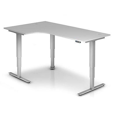 UPLINER-2.0 Bureau sur pieds - forme angulaire, largeur 2000 mm