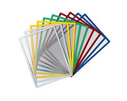Schaar-Design Einstecktasche, magnetisch - für Papierformat DIN A4, VE 10 Stk - farbgemischt