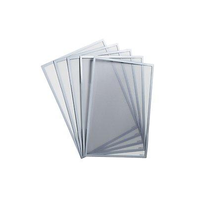 Schaar-Design Einstecktasche, magnetisch - für Papierformat DIN A3, VE 5 Stk - silber