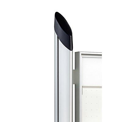 Schaar-Design Ständer - oval, 1 Paar - silber eloxiert
