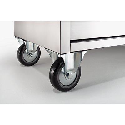 Edelstahl-Werkzeugwagen - 6 Schubladen mit Einzelarretierung - HxBxT 1110 x 1056 x 470 mm