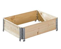 Treyer Holzaufsatzrahmen, diagonal faltbar - mit 4 Scharnieren, Nutzhöhe 200 mm - für Palette 800 x 600 mm