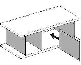 Lista Fachtrennwand, verzinkt - für Fachbodentiefe 500 mm, VE 10 Stk, Höhe 250 mm
