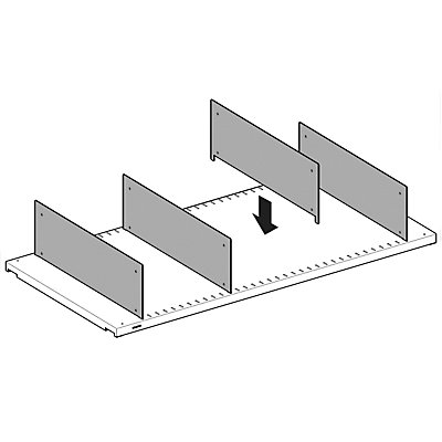 Lista Fachteiler, verzinkt - für Fachbodentiefe 400 mm, VE 10 Stk