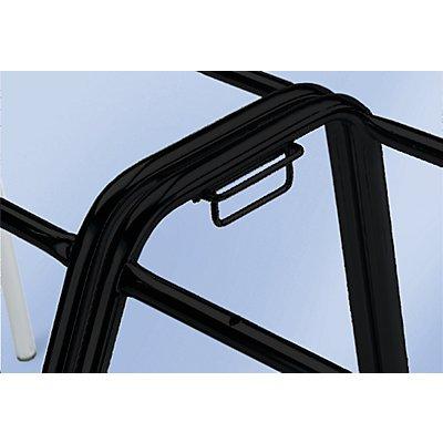 FRIWA Reihenverbinder - Set für 2 Stühle - schwarz
