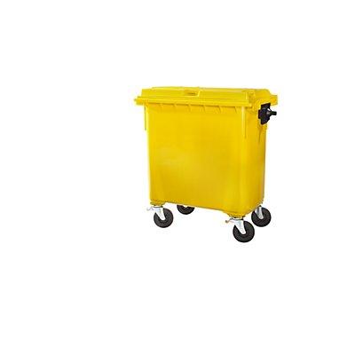 Kunststoff-Großmüllbehälter, nach DIN EN 840 - Volumen 660 l