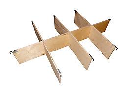 Treyer Aufsatzrahmen-Teiler, Satz - für Palette 1200 x 800 mm - 8 Fächer, für Rahmenhöhe 200 mm