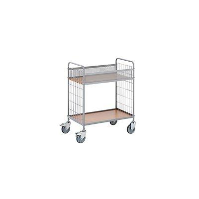 EUROKRAFT Büro-Etagenwagen - Tragfähigkeit 150 kg, mit 2 Etagen