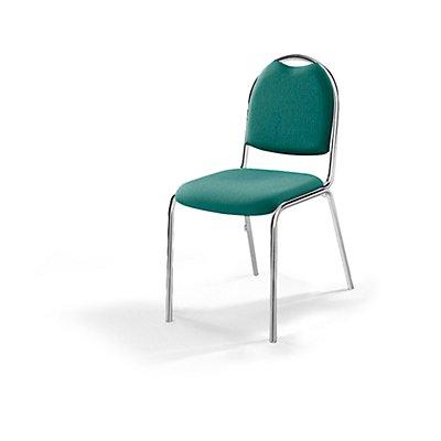 Konferenzstuhl - Stapelstuhl, Gestell verchromt