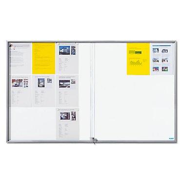 office akktiv Schaukasten mit Schiebetüren - Außen-BxHxT 1566 x 947 x 50 mm