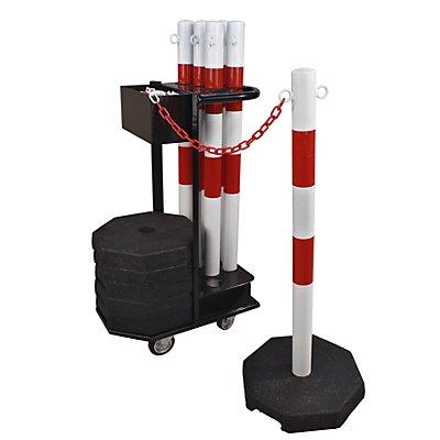dancop Kettenständerset mit Transportwagen - Höhe 1130 mm