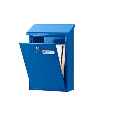 Standard-Briefkasten - mit klappbarem Schrägdach, Stahlblech