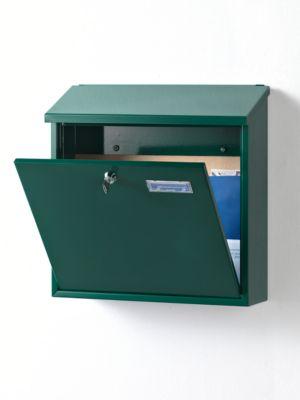Briefkasten, mit geradem Dach, Edelstahl, Edelstahl
