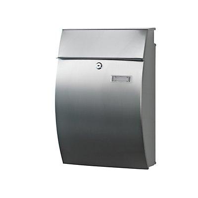 Design-Briefkasten, HxBxT 480 x 322 x 150 mm, Edelstahl