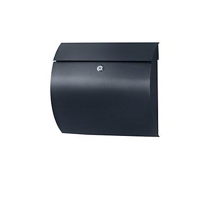 Briefkasten, abgerundet - HxBxT 327 x 375 x 117 mm, Stahlblech
