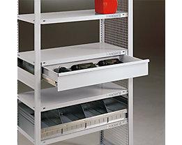 Verschluss für Einzelschublade - Drehschloss inkl. 2 Schlüssel - lichtgrau RAL 7035