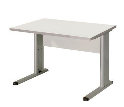 CLEARLINE Schreibtisch mit C-Fuß-Gestell - HxBxT 720 x 800 x 800 mm -