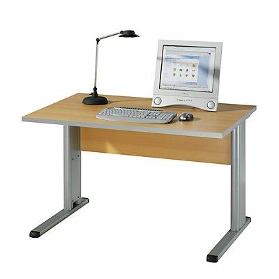 Wellemöbel CLEARLINE Schreibtisch mit C-Fuß-Gestell - HxBxT 720 x 800 x 800 mm