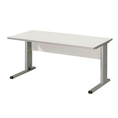 Wellemöbel CLEARLINE Büroschreibtisch mit C-Fuß-Gestell - HxBxT 720 x 1200 x 800 mm