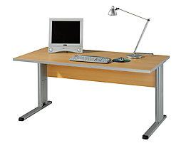CLEARLINE Büroschreibtisch mit C-Fuß-Gestell - HxBxT 720 x 1200 x 800 mm