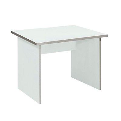 Wellemöbel CLEARLINE Schreibtisch mit Wangen - HxBxT 720 x 800 x 800 mm