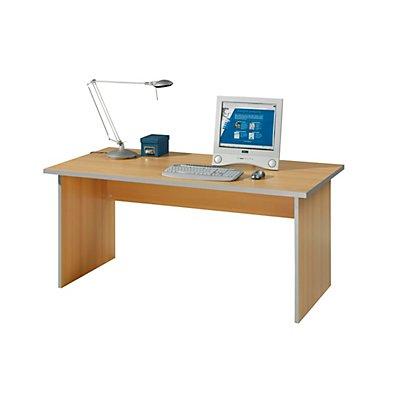 Wellemöbel CLEARLINE Schreibtisch-System - mit Wangen, Breite 1600 mm