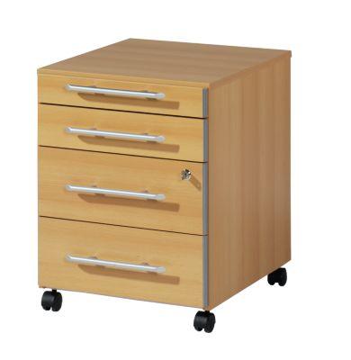 CLEARLINE Rollcontainer - 1 Utensilienschub, 3 Schubladen