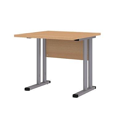 Wellemöbel CORINNA Schreibtisch mit C-Fuß-Gestell - HxBxT 720 x 800 x 800 mm