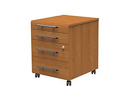 CORINNA Rollcontainer - 1 Utensilienschub, 3 Schubladen