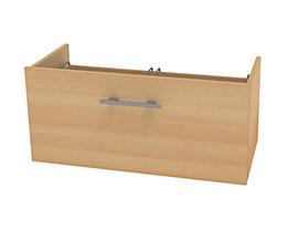 Wellemöbel CORINNA Schublade für Breite 800 mm - Belastbarkeit 12,5 kg - Buche-Dekor