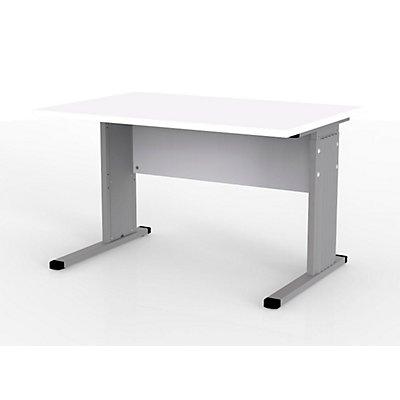 Wellemöbel VERA Schreibtisch mit C-Fuß-Gestell - höhenverstellbar, Breite 1200 mm