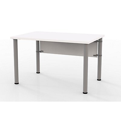 Wellemöbel VERA Schreibtisch mit 4-Fuß-Gestell - höhenverstellbar, Breite 1200 mm