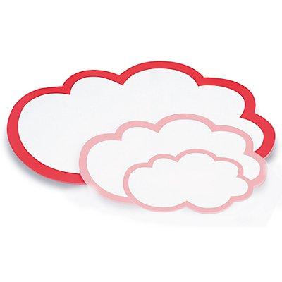 magnetoplan® Fiches cartonnées - grand nuage, 2 lots de 20 pièces - 610 x 370 mm