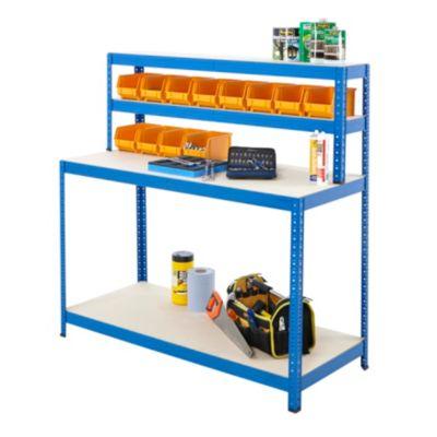 BiGDUG Arbeitsstation - 4 Ebenen, blau - blau