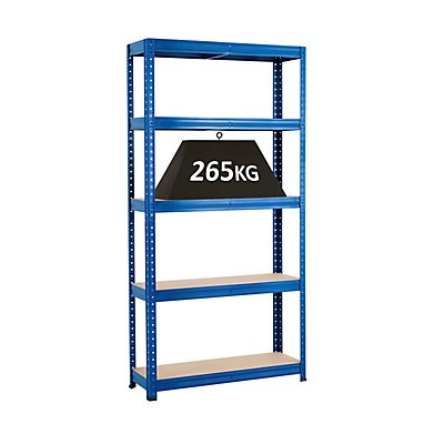 Rayonnage emboîtable bleu - charge max. 265 kg