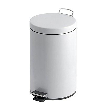 Tret-Abfallsammler, Kunststoff-Inneneimer, Inhalt 20 l, weiß