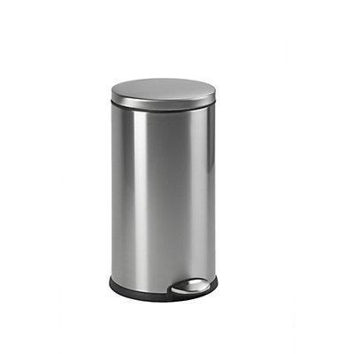 Tret-Abfallsammler aus Edelstahl, 30 Liter, Edelstahl