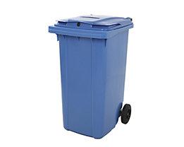 Kunststoff-Mülltonne - mit Papierschlitz, abschließbar