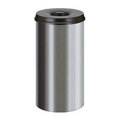 Papierkorb, selbstlöschend, Inhalt 50 l, Höhe 625 mm, Edelstahl