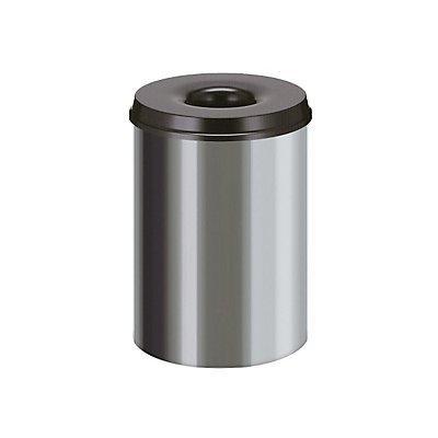Papierkorb, selbstlöschend, Inhalt 30 l, Höhe 470 mm, Edelstahl
