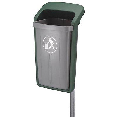 Abfallsammler, Inhalt 50 l, HxBxT 845 x 460 x 390 mm, grau/grün
