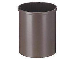 Corbeille à papier métallique ronde - capacité 15 l, hauteur 309 mm