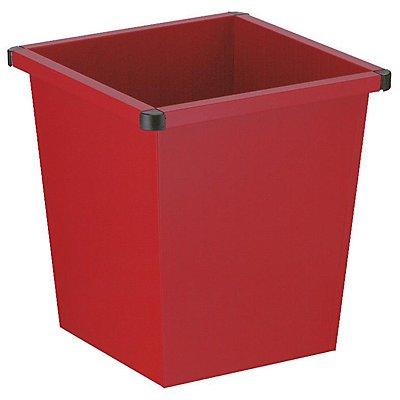 Papierkorb, quadratisch - Stahlblech