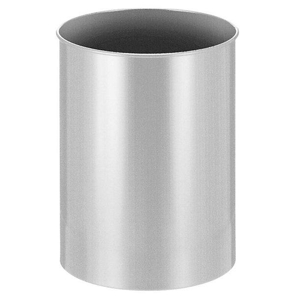 Papierkorb  Metall  rund  Inhalt 30 l  Höhe 470 mm  silber